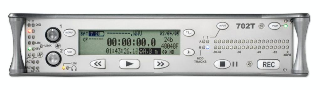 Sound Devices 702T Digital Audio Recorder is at Hollywood Sound Systems.
