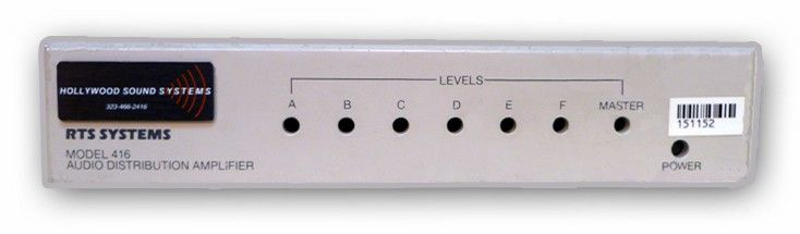 The RTS Model 416 Distribution Amplifier is at Hollywood Sound Systems.