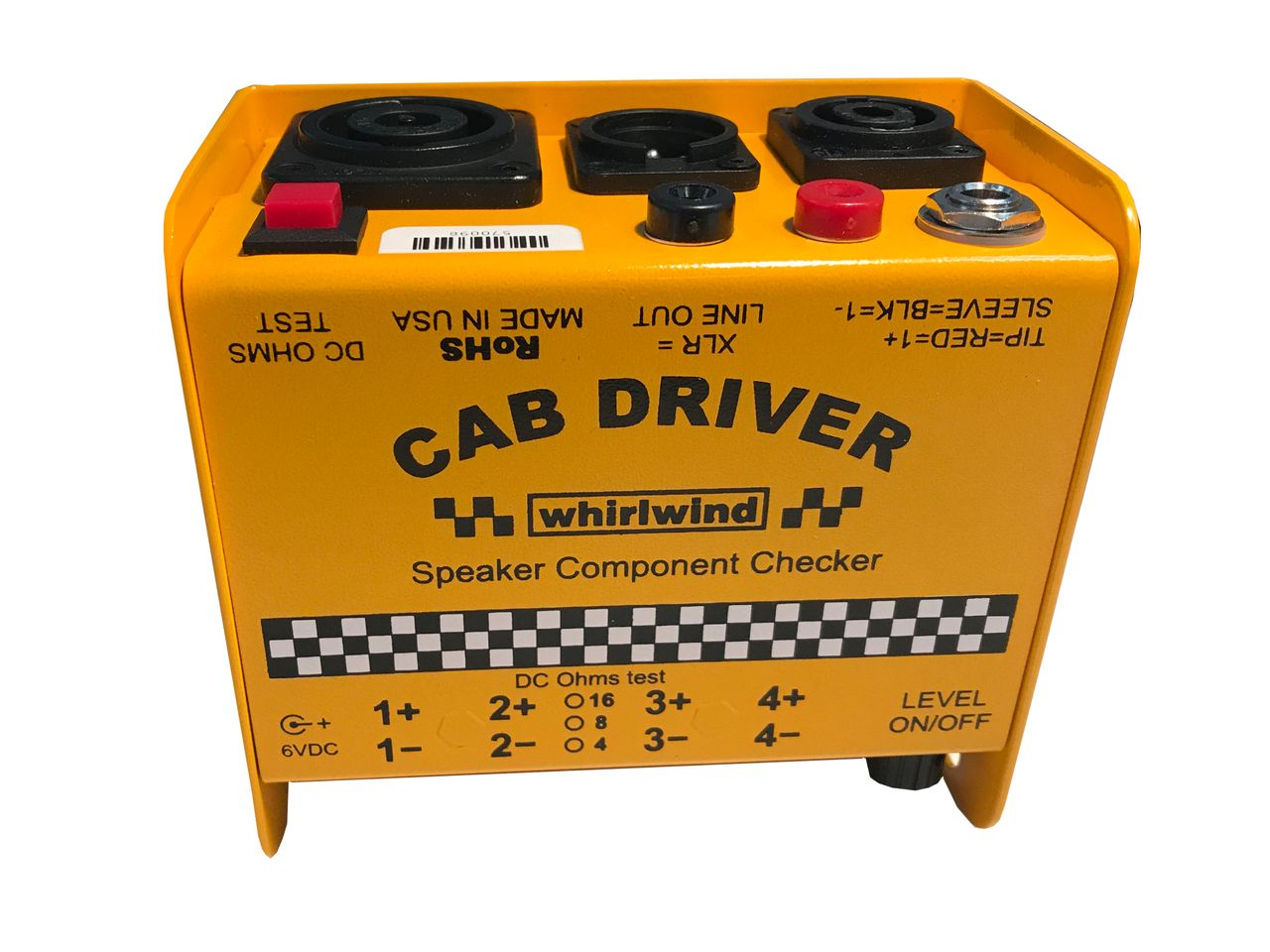 CAB DRIVER by Whirlwind Speaker Checker is at Hollywood Sound Systems