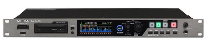 The Tascam DA-6400 is available at Hollywood Sound Systems.