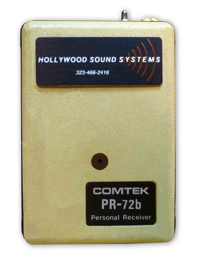 The COMTEK PR-72b IFB Receiver is at Hollywood Sound Systems.