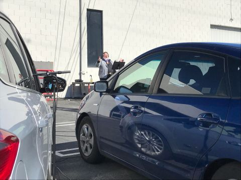 Hollywood Sound Systems provides a Drive-In Choir Rehearsal demo for local singers.