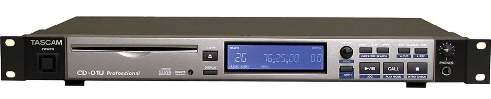 Tascam CD-01U Rack Mount CD Player at Hollywood Sound Systems