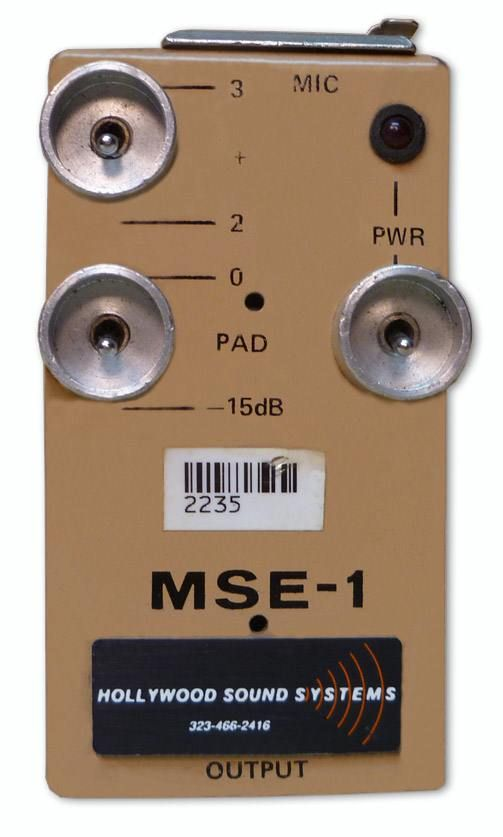 "The MSE-1 ""A-B"" T-Power Power Supply is at Hollywood Sound Systems."