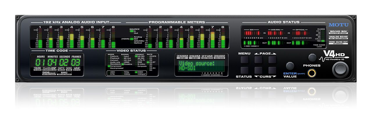 The MOTU V4HD is available at Hollywood Sound Systems.