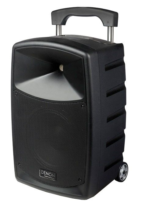 The Denon Envoi Portable Speaker System is available at Hollywood Sound Systems.