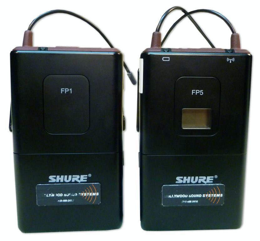 The SHURE FP-1 and FP-5 Wireless Microphone Set is available at Hollywood Sound Systems.