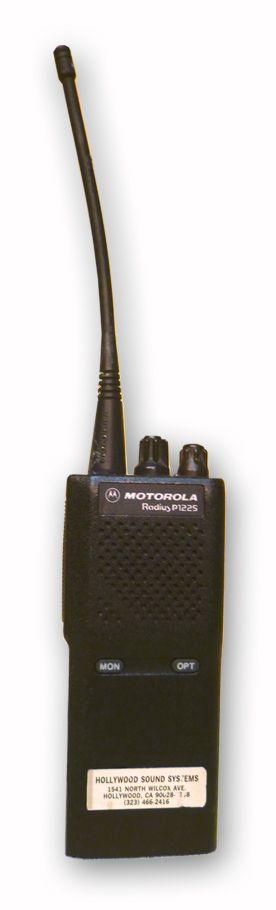 Motorola P1225 VHF Walkie Talkie at Hollywood Sound Systems