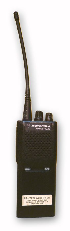 Motorola P1225 VHF Walkie Talkie at Hollywood Sound Systems