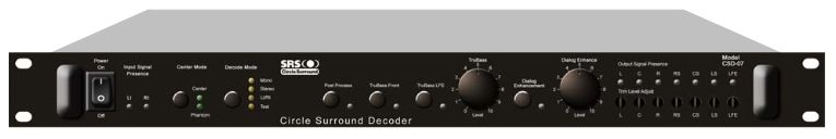 SRS LABS CSD-07D 5.1 DECODER is at Hollywood Sound Systems