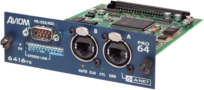 AVIOM 6416Y2 A-Net Interface Card at Hollywood Sound Systems