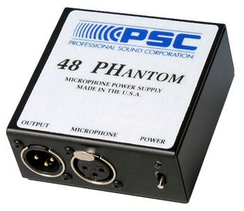 The PSC PH48 Phantom Microphone Power Supply is at Hollywood Sound Systems.