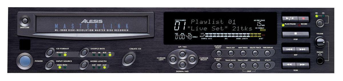 The Alesis ML-9600 Disk Recorder is at Hollywood Sound Systems.