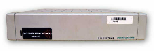 The RTS PS-15 INTERCOM POWER SUPPLY is at Hollywood Sound Systems