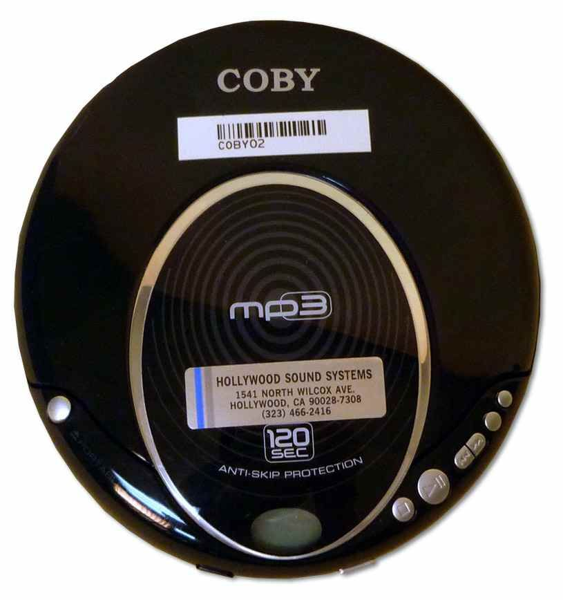 Coby Compact MP3 Anti-Skip CD Player at Hollywood Sound Systems