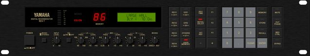 The Yamaha Rev 7 Digital Reverb is available at Hollywood Sound Systems.