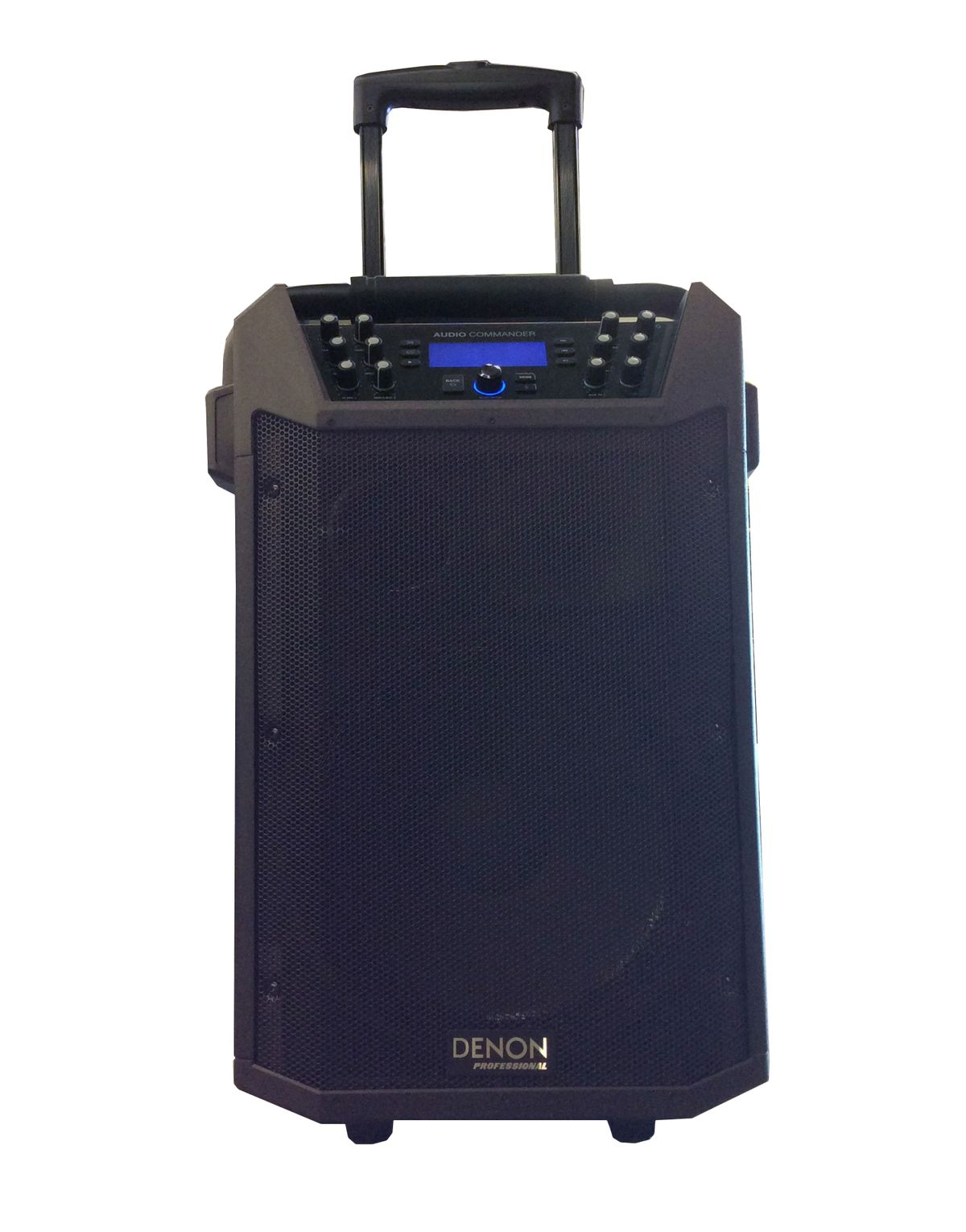 The DENON Pro Audio Commander Portable PA System is available at Hollywood Sound Systems