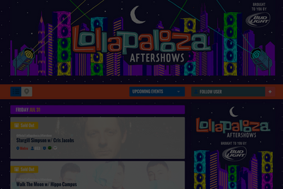 Bud Light Lolla Aftershows Listings