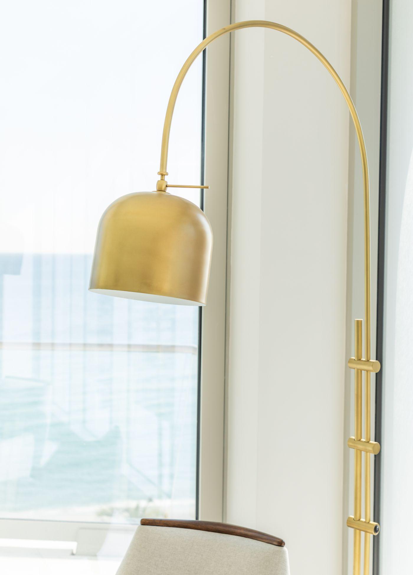 Gold Floor Lamp Sunny Isles