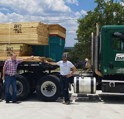KIRBY WALLS CUSTOM BUILDERS DELIVERING LUMBER TO ZILKER PARK