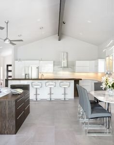 Crisp and modern take on the kitchen