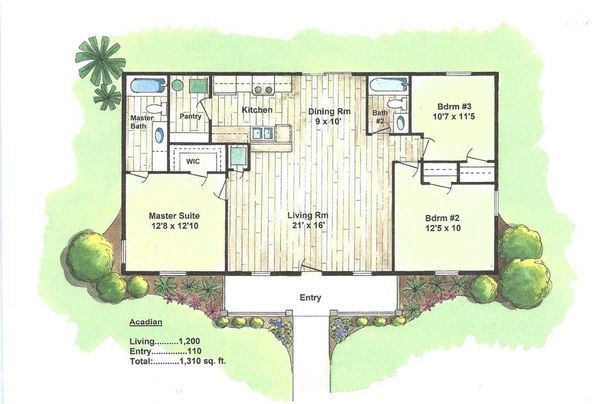 Energy Efficient Florida One Story House Plans