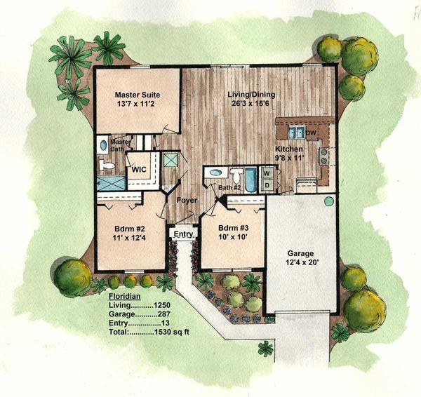 Florida Energy Efficient Ranch House Plans