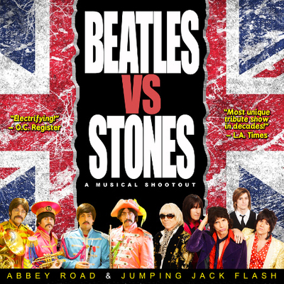 Beatles VS Stones featuring Abbey Road and Jumping Jack Flash