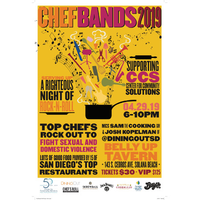 @DiningOutSD Presents Chef Bands 9 - Sam the Cooking Guy as MC!
