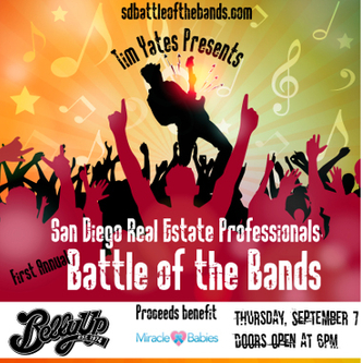 SD Real Estate Professionals' BATTLE OF THE BANDS benefiting MIRACLE BABIES