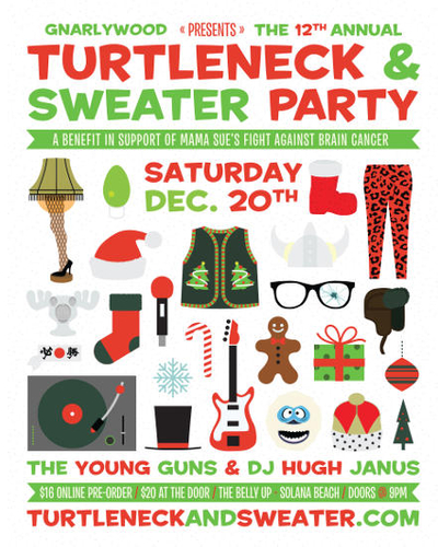 Gnarlywood presents 12th Annual Ugly Turtleneck & Sweater party