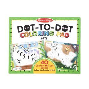 123 Dot-to-Dot Coloring Pad - Pets