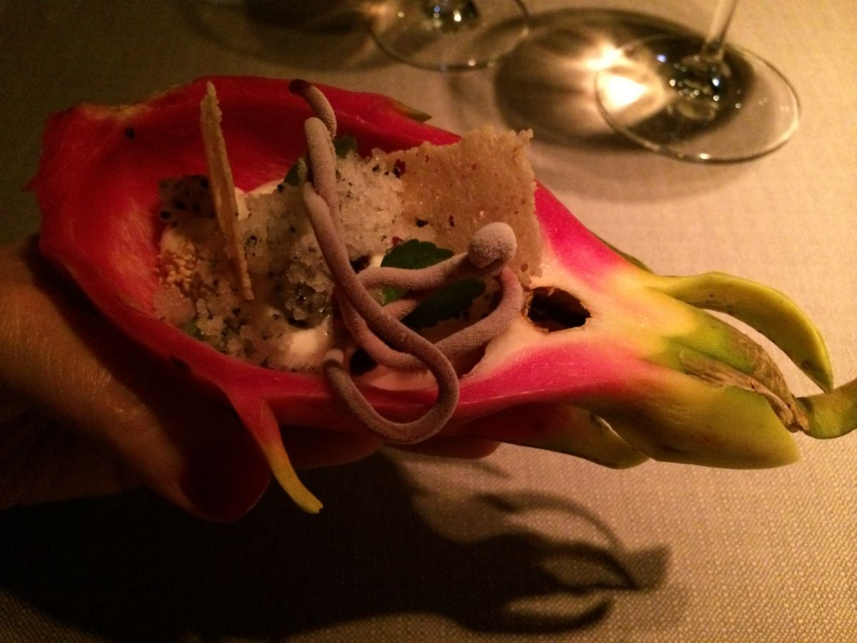 Keeper Collection Dragonfruit Dish at Grace Restaurant