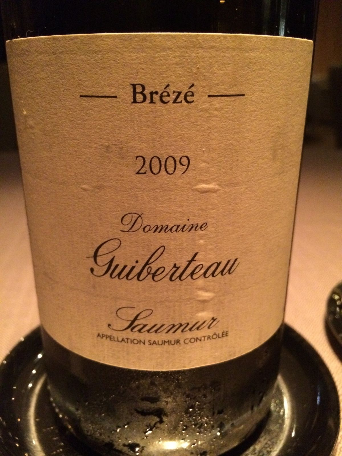 Keeper Collection 2009 Domaine Guiberteau Breze