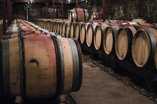 Wooden Barrels of Wine