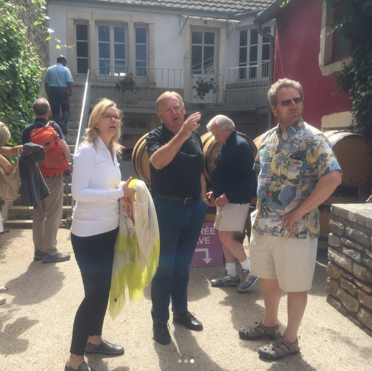 Burgundy Winemaker Patrick Javillier with Guests