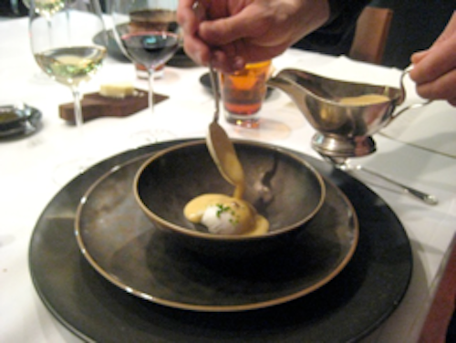 Keeper Collection - Poached Egg in Uni Sauce at Can Fabes
