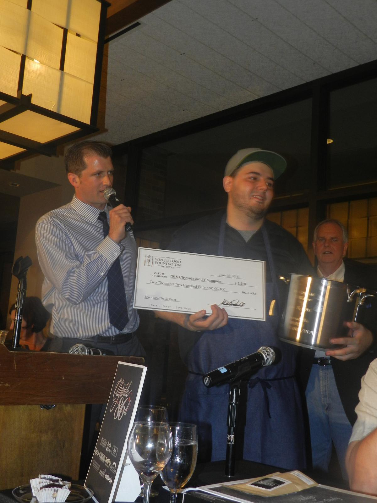 The Winner of Citywide 86d Final : Joel Garza