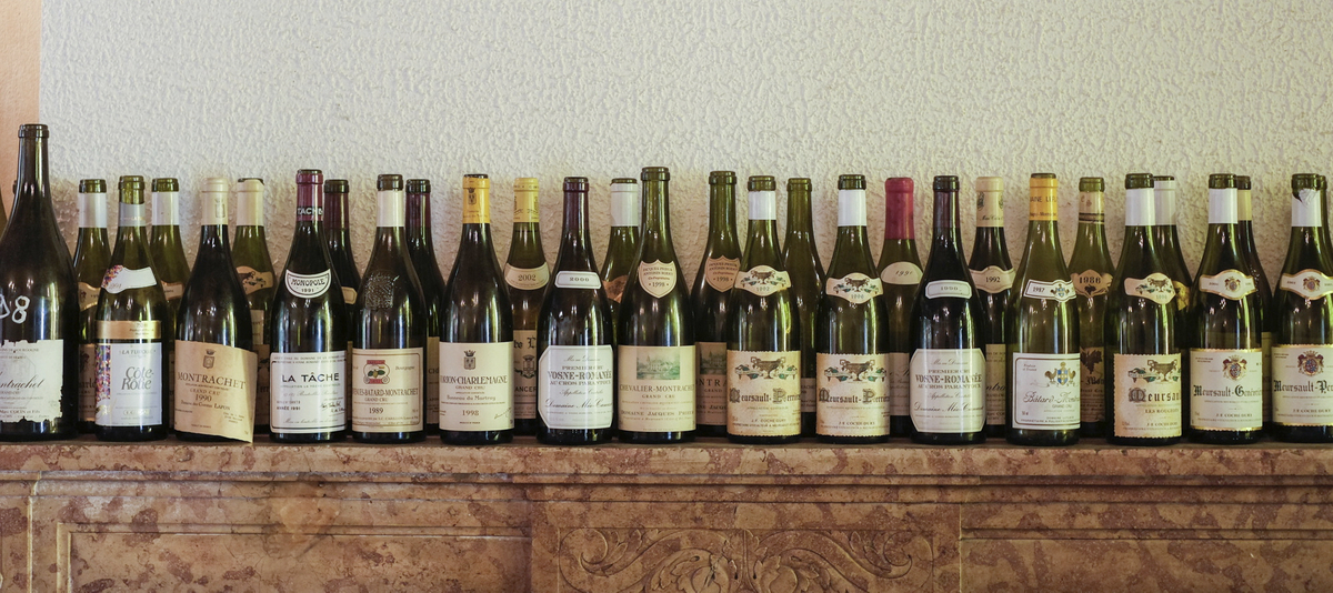 Wine bottles and keeper collection