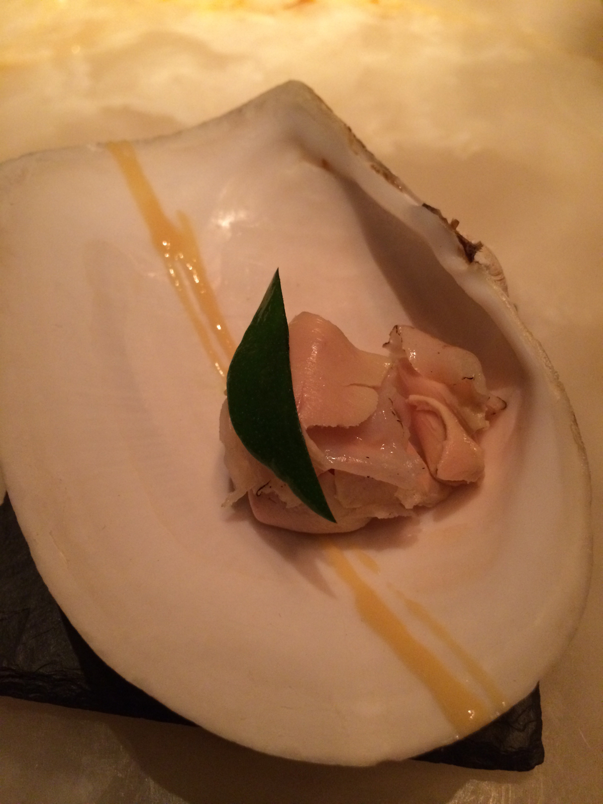Keeper Collection - Geoduck Dish at L2O Restaurant