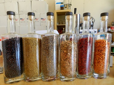 The six aromatic ingredients for Revolution Spirits gin