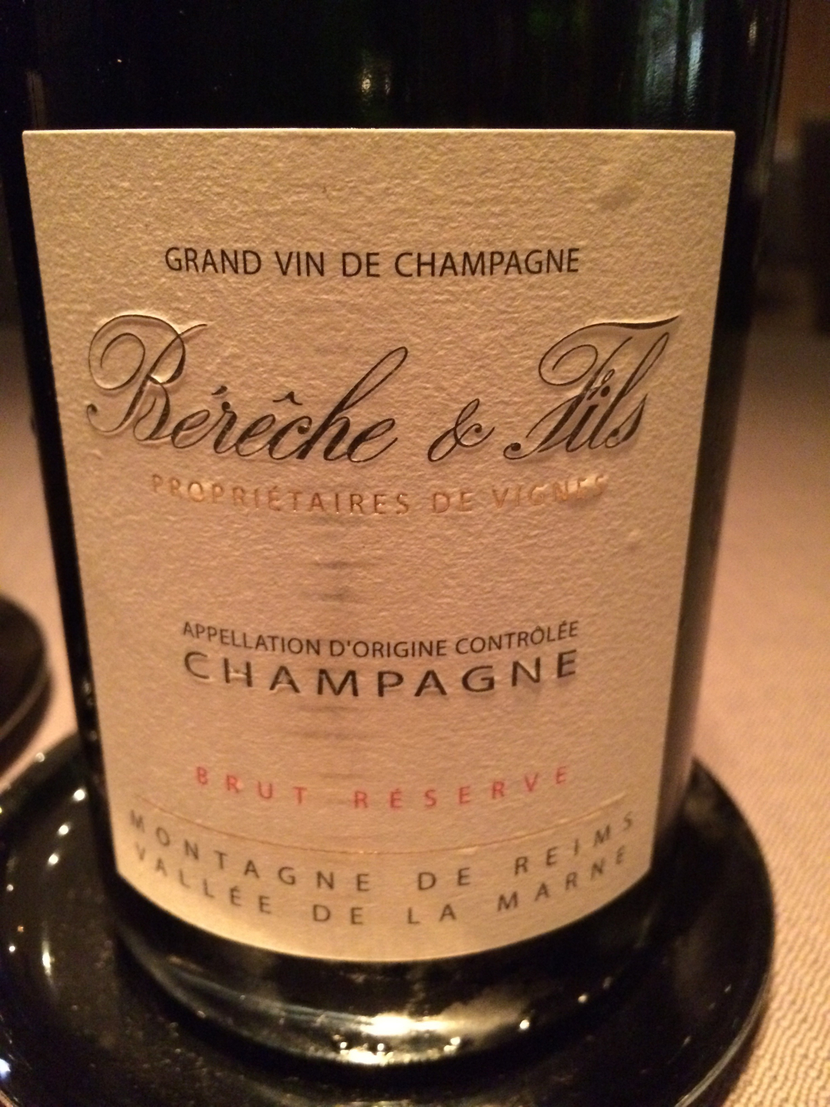 Keeper Collection - Champagne at Grace Restaurant