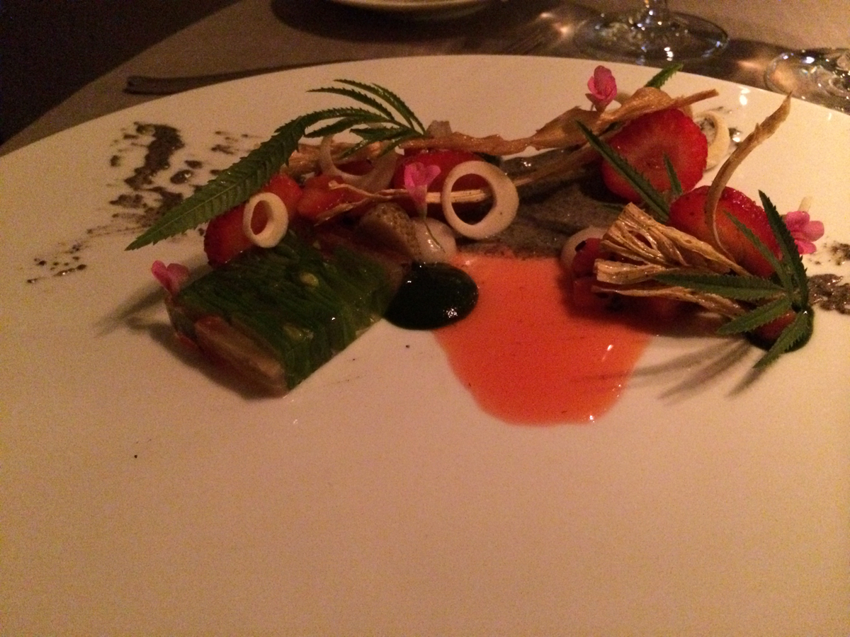 Keeper Collection - Green Strawberry Dish at Grace Restaurant