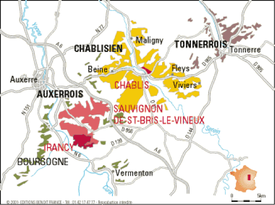 Chablisien and Auxerrois Vineyards in Burgundy