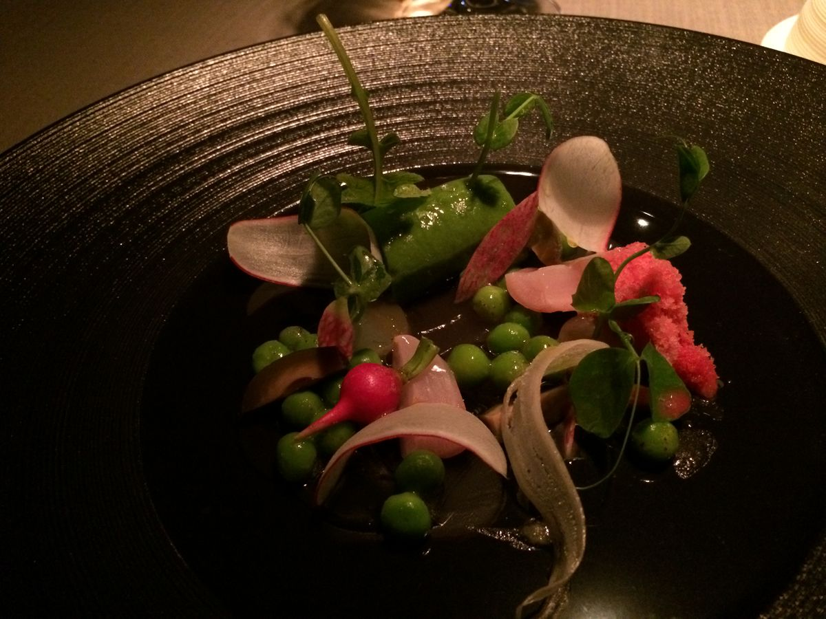 Keeper Collection - English Pea Dish at Grace Restaurant