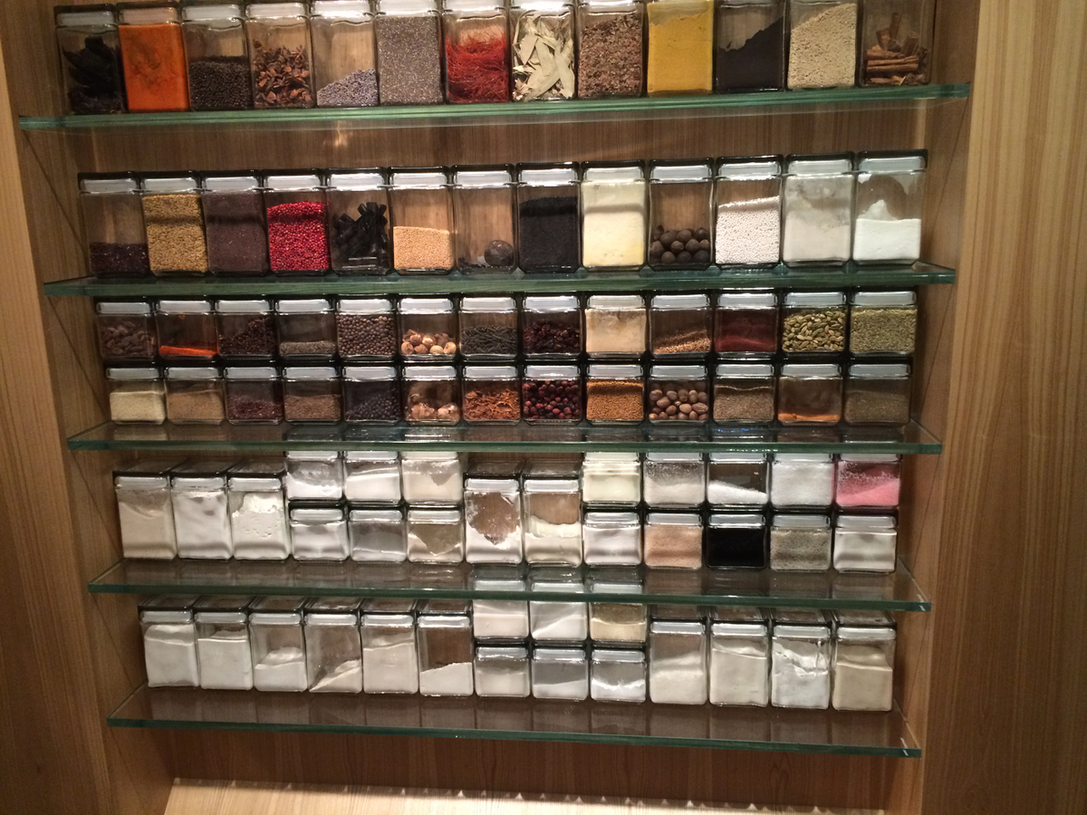 Keeper Collection - Wall of Ingredients at Grace Restaurant