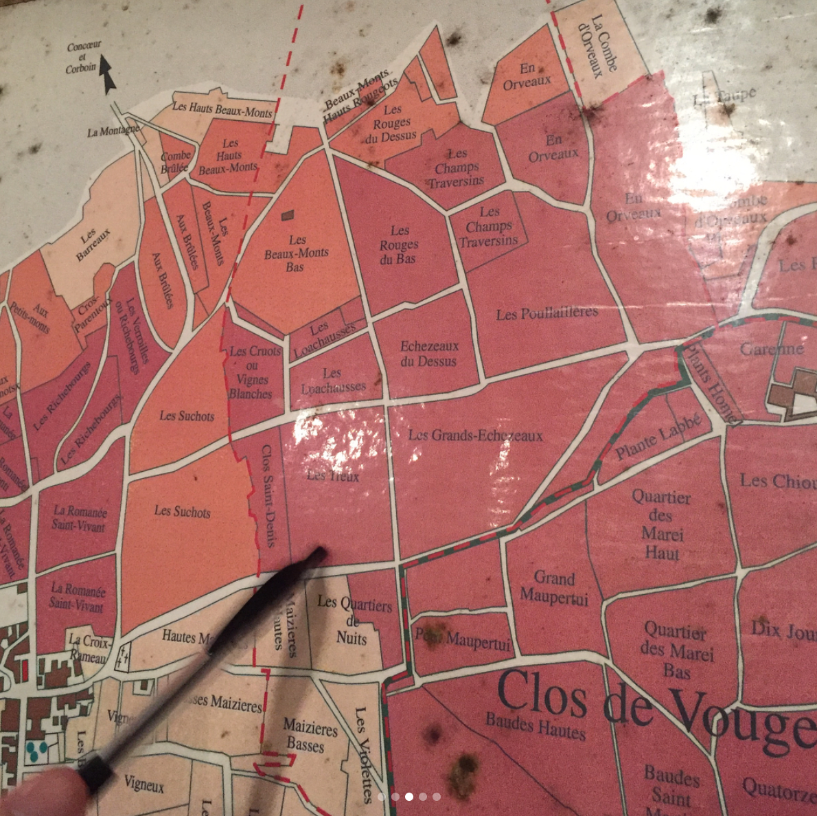 Viewing #Burgundy Map With Winemaker Etienne Grivot