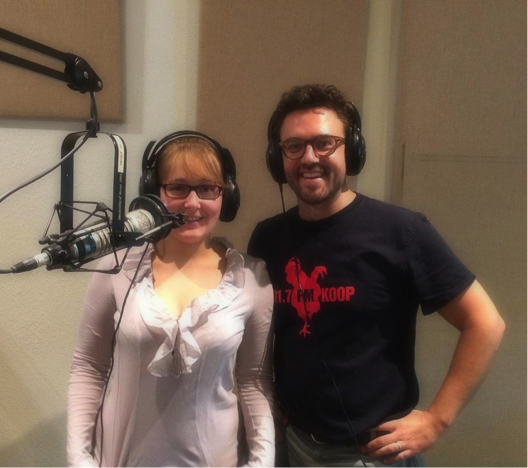 Mark Rashap and his guest Clothilde Lafarge from Domaine Michel lafarge