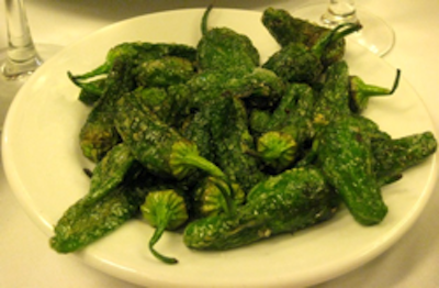Keeper Collection - Grilled Padrón Peppers at Cal Pep