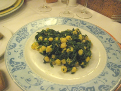 Keeper Collection - Spinach & Garbanzos at Cal Pep